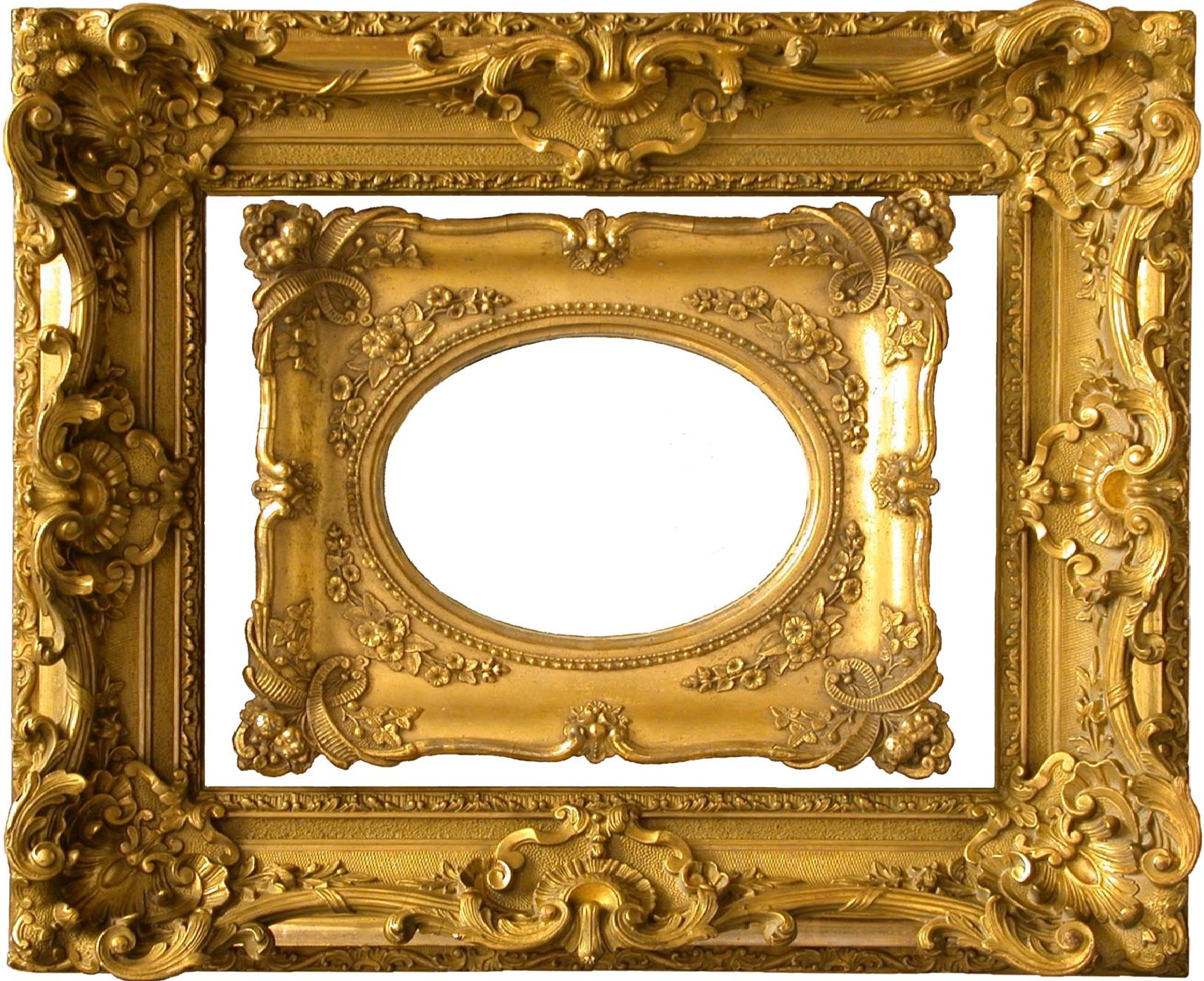 Pics photos antique french plaster relief moulding 19th - Large antique picture frames ...
