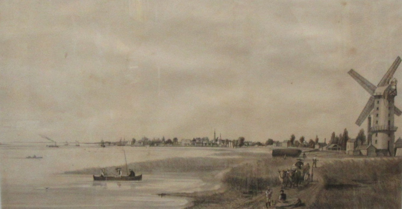 TIMPERLAKE, James (Publisher). Toronto In 1834. (Looking West). [OFFERED WITH:] Toronto In 1877. (Looking West).