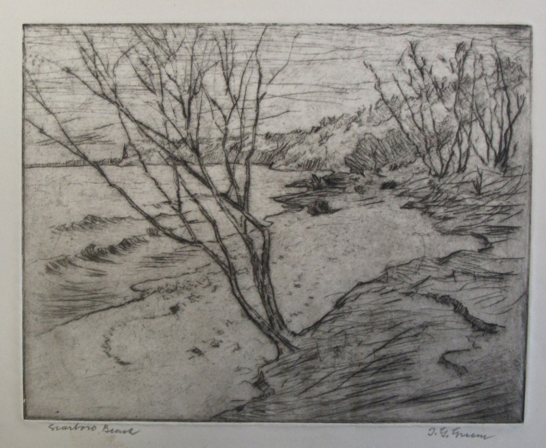 GREENE, Thomas Garland [1875-1955]. Scarboro Beach. etching