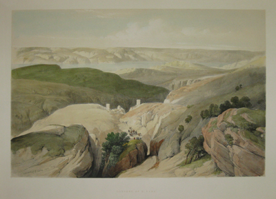 (VIEWS). ROBERTS, David [1796-1864]. Convent of St. Saba. April 1839. Pubd. by F.G. Moon [London] June 1st 1844.