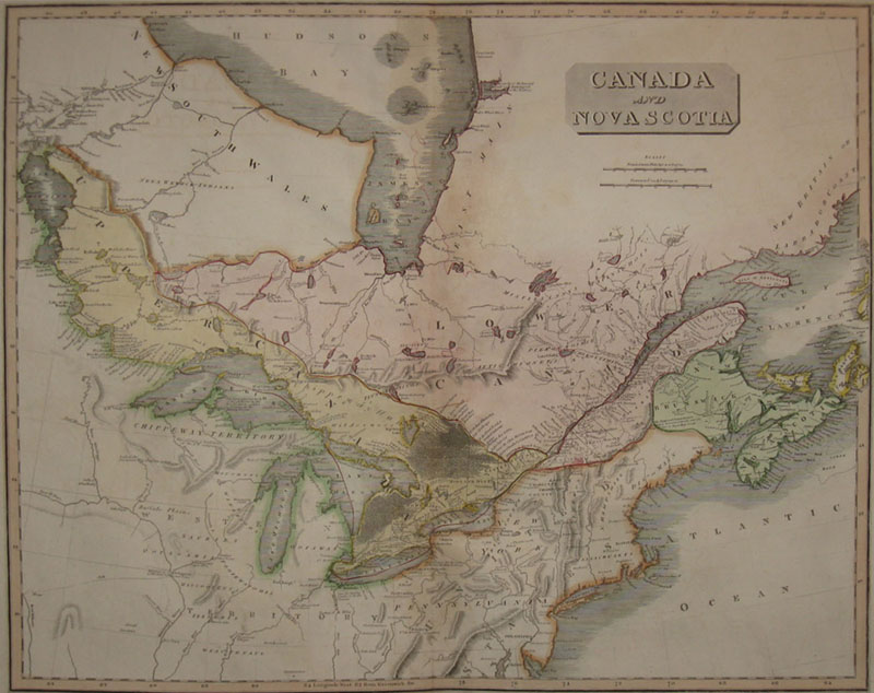 (CANADA). THOMSON, John [fl. 1813-1869]. Canada And Nova Scotia. Engd. by W. Dassauville Edinb. [Edinburgh: c1817].