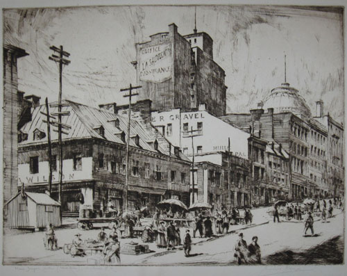RAINE, Herbert [1875-1951] (RCA). Place Jacques Cartier (West Side) Montreal P.Q.