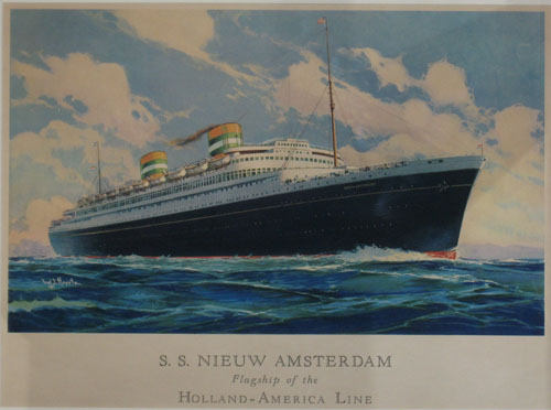 (MILITARY & NAVAL). HOERTZ, Fred J. S.S. Nieuw Amsterdam Flagship Of The Holland-American Line. [c1938-1939].