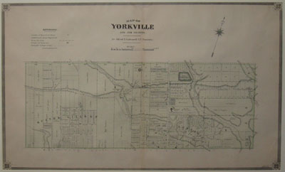 MILES & CO. (Publisher). Map of Yorkville And Its Viciniy by Alfred T. Cotterell… ['Illustrated Historical Atlas Of The County of York'. Toronto: 1878].