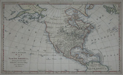 (NORTH AMERICA). BOWEN, Thomas [fl. 1749-90]. A New & Accurate Map of North America; Drawn from the most Authentic & Modern Maps and Charts by Thos. Bowen. Engraved for Middletons Complete System of Geography [London: 1777-78].