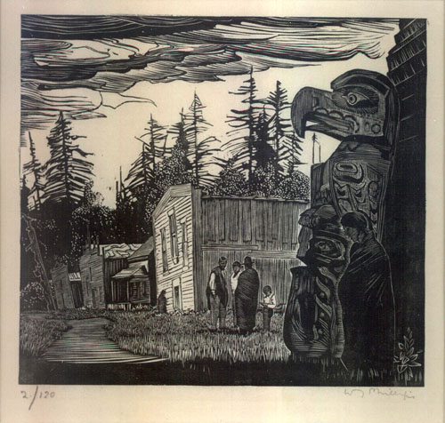 PHILLIPS, Walter Joseph [1884-1963] (RCA & CPE). Community Houses At Mamalilicoola [British Columbia].