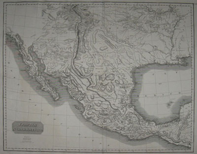 (SOUTHWEST/MEXICO). THOMSON, John [fl. 1813-1869]. Spanish North America. Engraved For Thomson's New Gneral Atlas [1821].